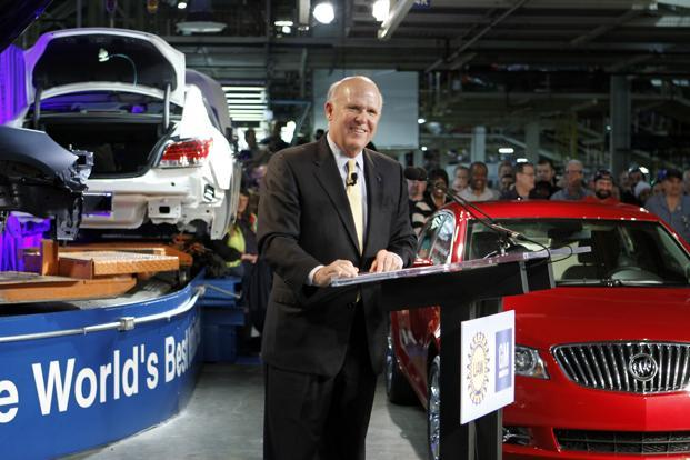GM chief executive Dan Akerson at the Kansas City car plant said the last four years at GM had been tough, but the auto maker is now in a 'renaissance'.