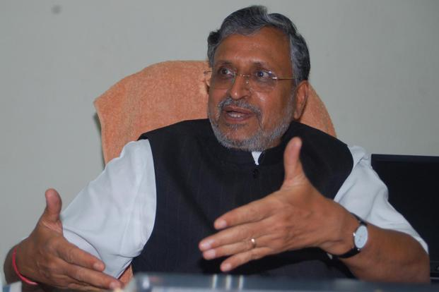 Sushil Kumar Modi, chairman of the empowered committee of state finance ministers. Photo: Hindustan Times