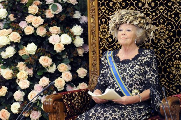 A file photo of Queen Beatrix in the Ridderzaal in The Hague, Netherlands. Queen Beatrix said she was stepping down because she felt Willem-Alexander was now ready to take her place on the throne. Photo: AFP