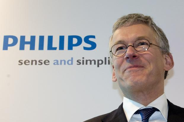 A file photo of Philips chief executive Frans van Houten. Photo: AP