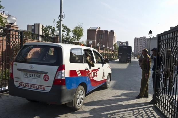 A file photo of a prisoner transport vehicle believed to be ferrying the gangrape accused in New Delhi. Photo: AFP