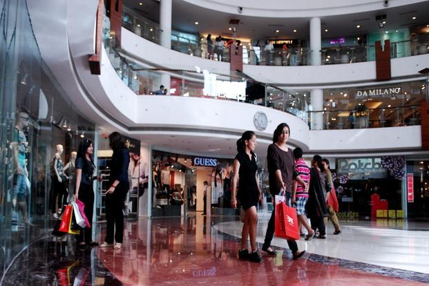 Retail rents across malls remained largely unchanged in the December quarter, says the report. Photo: Pradeep Gaur/Mint