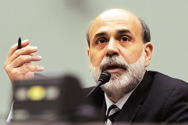 US Federal Reserve chairman Ben Bernanke. The GDP report will likely provide ammunition for officials at the US central bank to stay on their ultra-accommodative policy stance. Photo:AFP