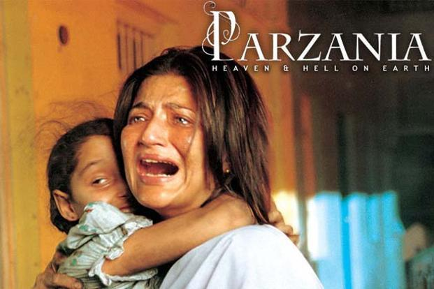 <i>Parzania</i> (2007), co-written and directed by Rahul Dholakia and David N. Donihue, was banned in Gujarat, due to its story line of a Parsi boy who disappeared after the 28 February 2002 Gulbarg Society massacre.