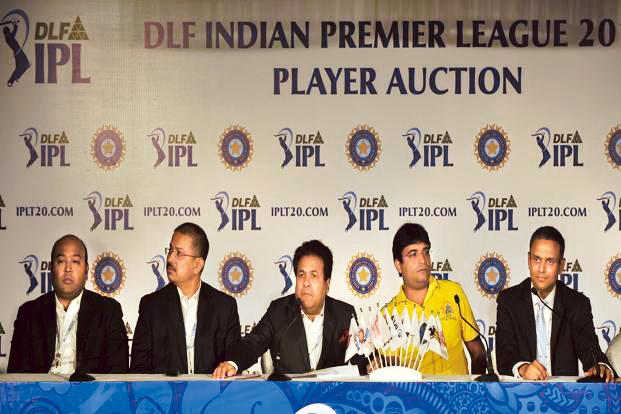 A file photo of the auction for the fifth edition of the Indian Premier League (IPL) cricket in Bangalore. Photo:  AFP
