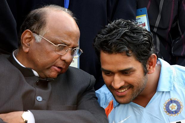 06 March 2008: Pawar chats with M S Dhoni in New Delhi. Pawar has also served as the Chairman of the Board of Control for Cricket in India from 2005 to 2008 going on to become the International Cricket Council president in 2010. HT