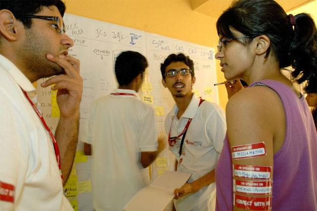 A file photo of volunteers during an event at IIT Mumbai. Photo: Mint