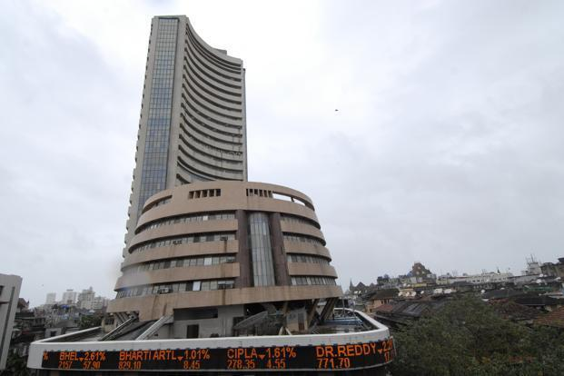 A file photo of the Bombay Stock Exchange. The expiry of January derivatives kept trading volatile towards the end of the session. Photo: Abhijit Bhatlekar/Mint