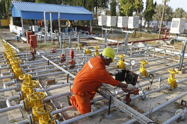 ONGC shares rose 0.17% as of 12.30pm, while HPCL shares were down 0.99%. Photo: Reuters