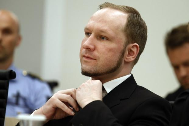 A file photo of Anders Behring Breivik at a district court in Oslo, Norway. The Norwegian justice ministry declined to comment on the content of Breivik's complaint. Photo: AFP