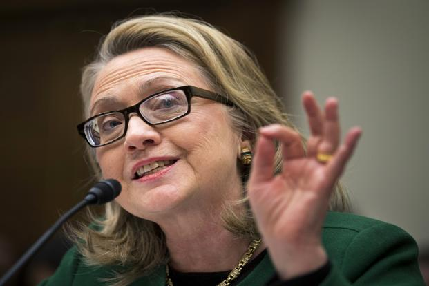 A file photo of Hillary Clinton. Photo: AP