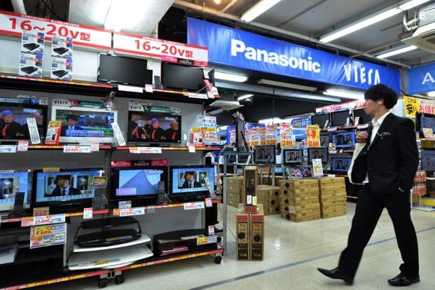 A file photo of Japanese electronics manufacturer Panasonic showroom in Tokyo. Photo: AFP
