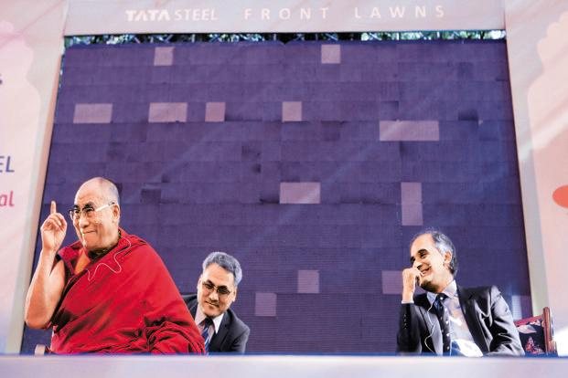 Eastern eye: Iyer (right) first met the Dalai Lama when he was 17. Photo: HT