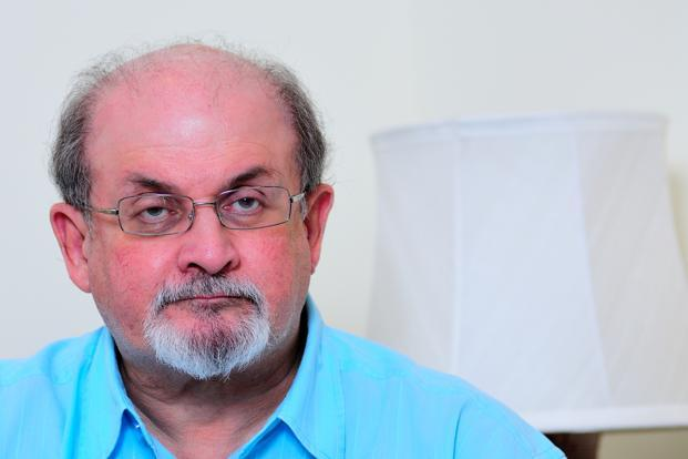 The Booker Prize winning author Salman Rushdie also lashed out at the organizers of the ongoing Kolkata Literary Meet (KLM) who had claimed that Rushdie was never invited by them. Photo: Priyanka Parashar/Mint