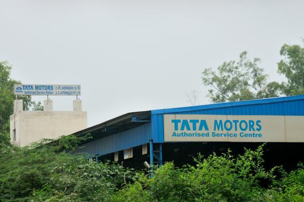 Tata Motors posts a sharp decline in January sales volume, down 56% from the year before to 15,209 units.