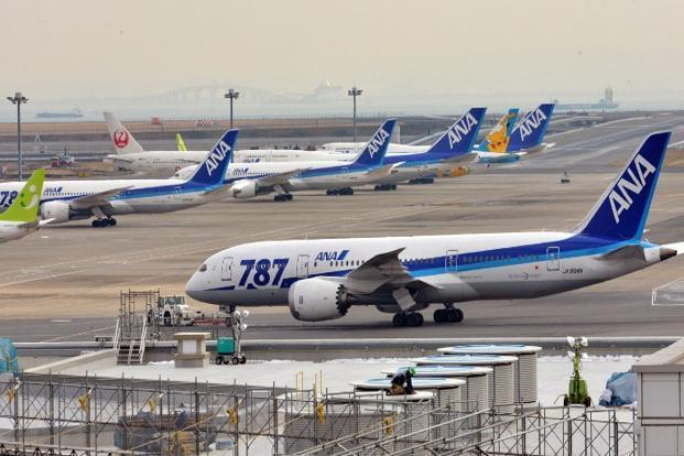 ANA, Asia's top airline by revenue, lost more than $15 million in revenue from having to cancel Dreamliner flights in January. Photo: Yoshikazu Tsuno/AFP