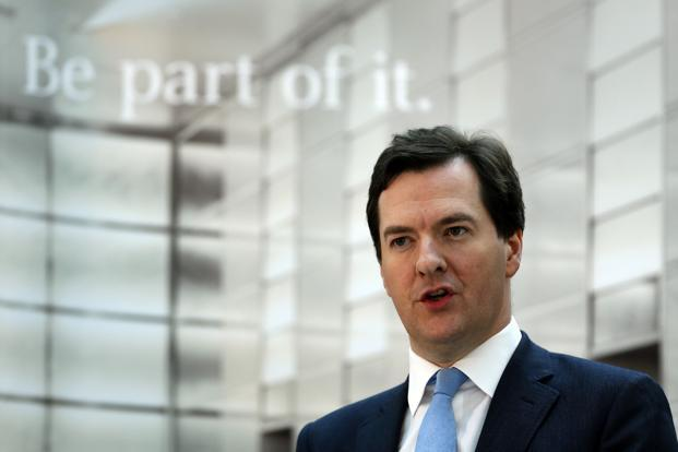 Britain's finance minister George Osborne speaks at JPMorgan in Bournemouth, southern England on Monday. Photo: Stefan Wermuth/ Reuters
