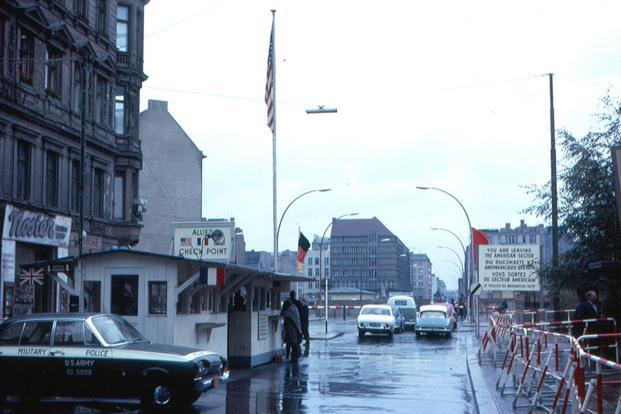 A view of the checkpoint Charlie, Berlin. Photo: Wikimedia Commons