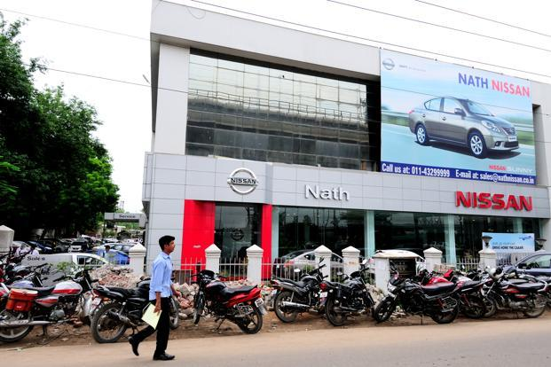 A file photo of a Nissan showroom in New Delhi. Photo: Priyanka Parashar/Mint