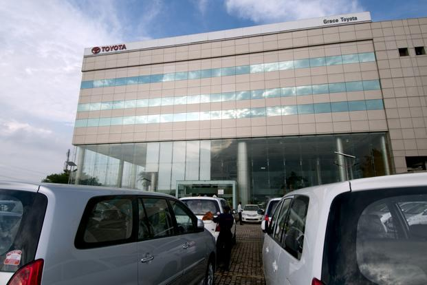 Toyota, Japan's biggest auto maker, also upped its net profit forecast for the fiscal year through March to 860 billion yen from an earlier estimate of 780 billion yen. Photo: Ramesh Pathania/Mint