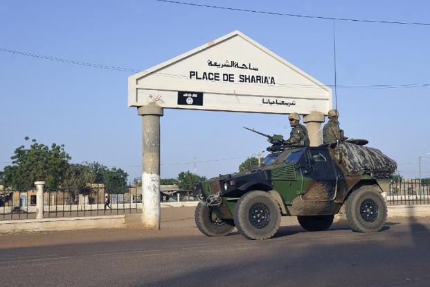 A file photo of French troops patrolling in Gao, Mali. Photo: Sia Kambou/AFP.