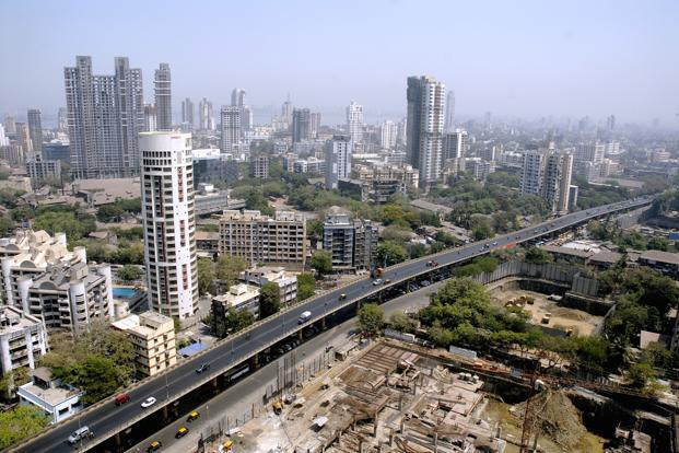<b>RANK 1</b>-Mumbai, India: The commercial capital of the country, is also the major seaport on the Arabian Sea. It is notorious for its high real estate costs. In picture: an aerial view of Mumbai. Mint