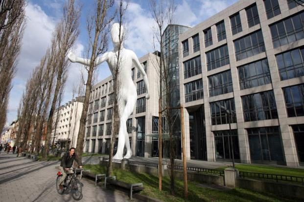 "A file photo of Munich Re's headquarters in Munich. The dividend would be ""substantially increased"" to €7 per share for 2012 from €6.25 a year earlier, company's chief financial officer said. Photo: AFP"
