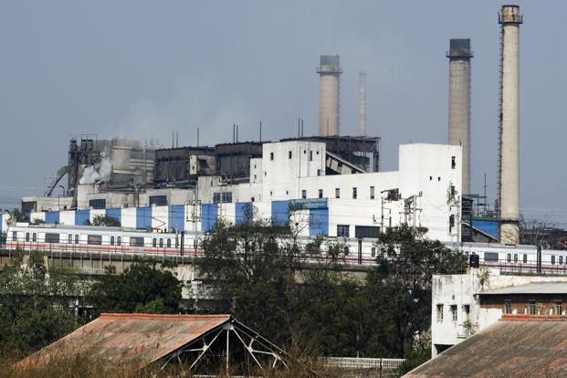 Ahead of the announcement, NTPC shares rose 0.16% to Rs155.60 while the benchmark 30-share Sensex fell 0.46% to 19,659.82 points. Photo: Ramesh Pathania/ Mint