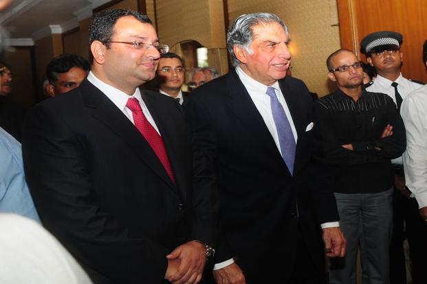 A file photo of Cyrus Mistry (left) and Ratan Tata. Photo: Indranil Bhoumik/Mint