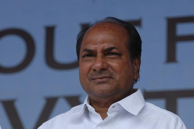 A file photo of defence minister A.K. Antony. Photo: Hemant Mishra/Mint