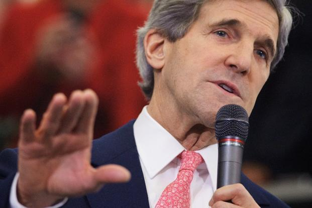 A 4 February photo of US secretary of state John Kerry in Washington, DC. Photo: AFP