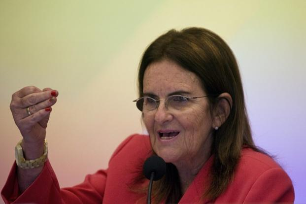 Petrobras CEO Maria das Gracas Foster said production will pick up in the second half of 2013 thanks to six new oil platforms that will be put into operation during the year. Photo: AFP