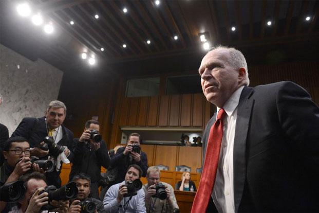 John Brennan, Obama's CIA nominee, arrives to testify at his confirmation hearing before the Senate Intelligence Committee on Capitol Hill in Washington, DC, on Thursday. Photo: AFP