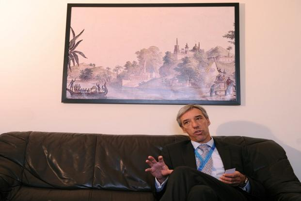 The European Union ambassador to India  Joao Cravinho. Photo: AFP