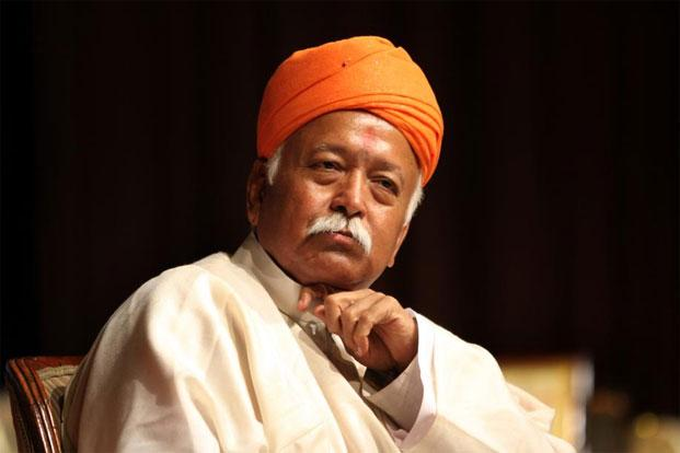 Violence and terrorism have never had a place in the RSS or the entire Sangh Parivar, said RSS chief Mohan Bhagwat. Photo: Hindustan Times
