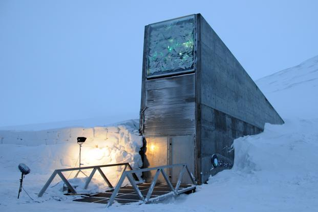 A file photo of Svalbard Global Seed Vault, a vast sub-terranean seed vault located on the Norwegian island of Spitsbergen. Photo: Wikimedia Commons