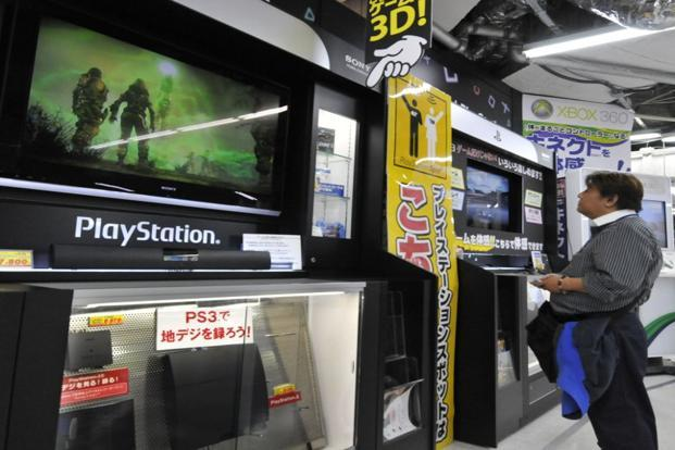 A file photo of Sony's videogame PlayStation 3 at a Tokyo electric shop. Photo: AFP