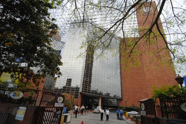 The LIC building in New Delhi. Most of the private insurers currently hold much less than 10% in publicly traded firms, and the new investment limits will provide a level playing field with LIC. Photo: Mint