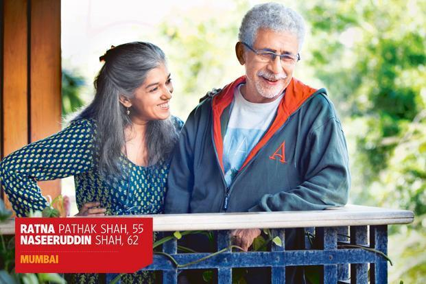Ratna Pathak Shah and Naseeruddin Shah at their home in Bandra, Mumbai. Photo: Ritam Banerjee/Mint.