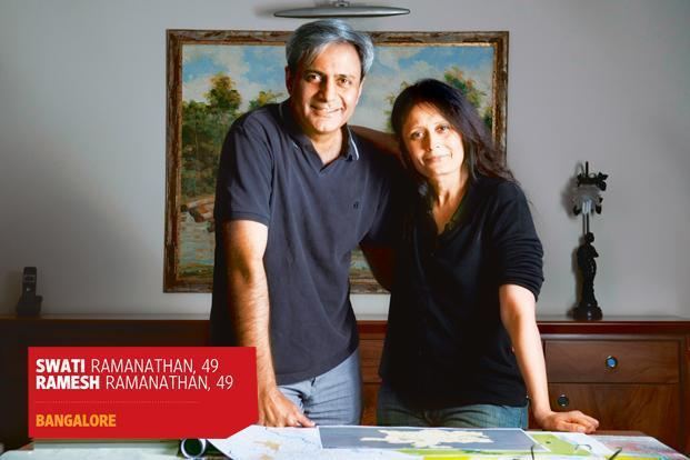 Swati and Ramesh Ramanathan at their central Bangalore residence. Photo: Aniruddha Choudhary/Mint.