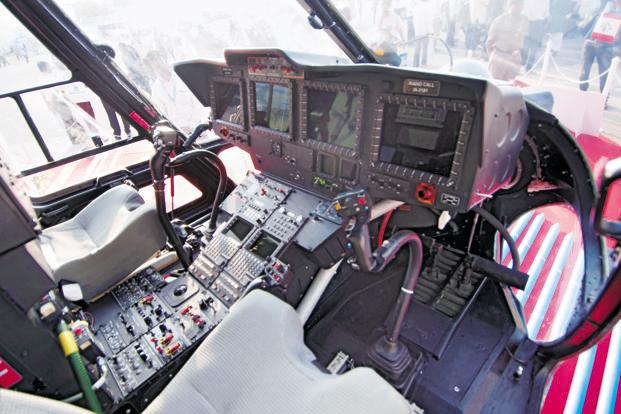 The cockpit of the Rudra, the latest version of the advanced light helicopter manufactured by HAL.