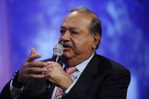 A file photo of Mexican billionaire tycoon Carlos Slim in New York. Considered the world's richest man, Slim dominates the telecom market in Mexico. Telmex, a former state monopoly privatized in 1990, holds around 80% of the fixed-line market. Photo: AFP