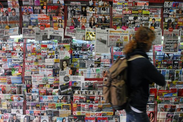 The report said 289 magazines had more than 7.9 million digital replica editions, or 2.4% of the total industry circulation in the last six months of 2012. Photo: Mint