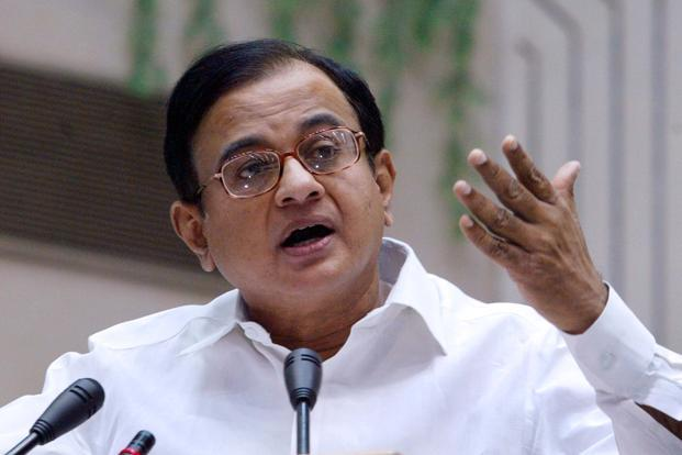 A file photo of finance minister P. Chidambaram. Photo: AFP