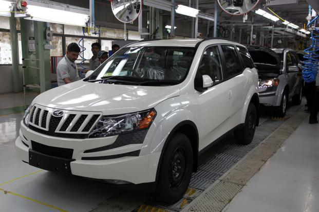 Mahindra's utility vehicles (UV) segment's margin before interest and tax rose by nearly 1 percentage point to 11.2% from a year ago, thanks to the contribution from its new UV, XUV500. Photo: Sandesh Bhandare/Mint