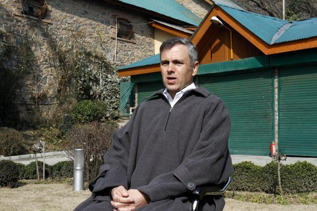 Jammu and Kashmir chief minister Omar Abdullah addressing a press conference after the execution of Afzal Guru, at his home in Srinagar, on Saturday. Photo: Mukhtar Khan/AP.