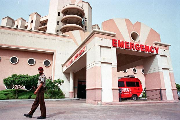 A file photo of Indraprastha Apollo hospital in New Delhi. Photo: Hindustan Times