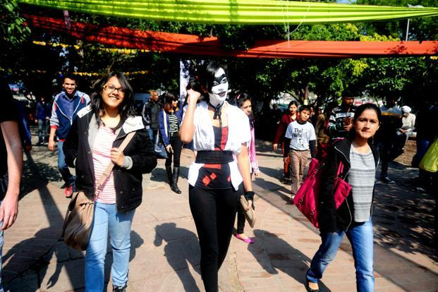 Participants of the popular costume contest, the Cosplayers, showing off their creative work