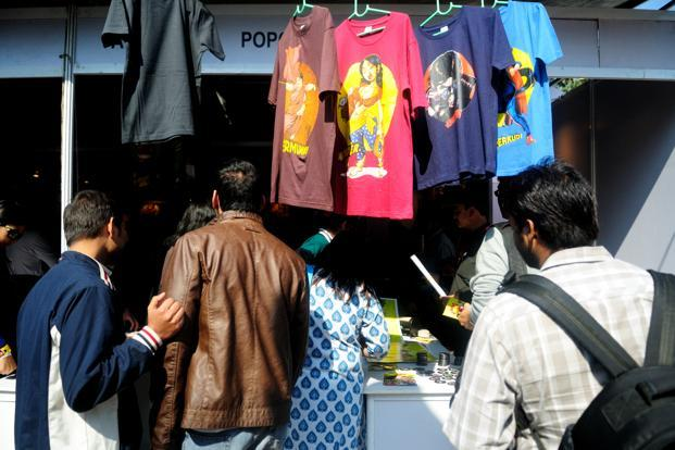 The bright winter February sun drove up sales of t-shirts
