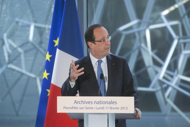 French President Francois Hollande will be accompanied by five ministers, including foreign minister Laurent Fabius, and a 45-member business delegation during the visit. Photo: AP